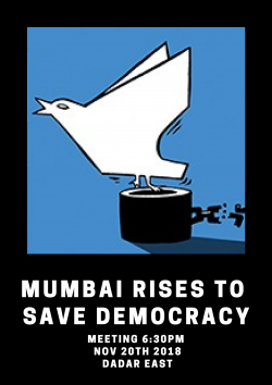 Mumbai Rises to Save Democracy Meeting